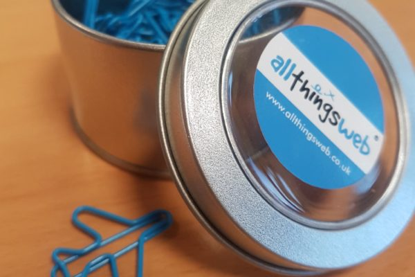 Custom Shape Paper Clips in Tin