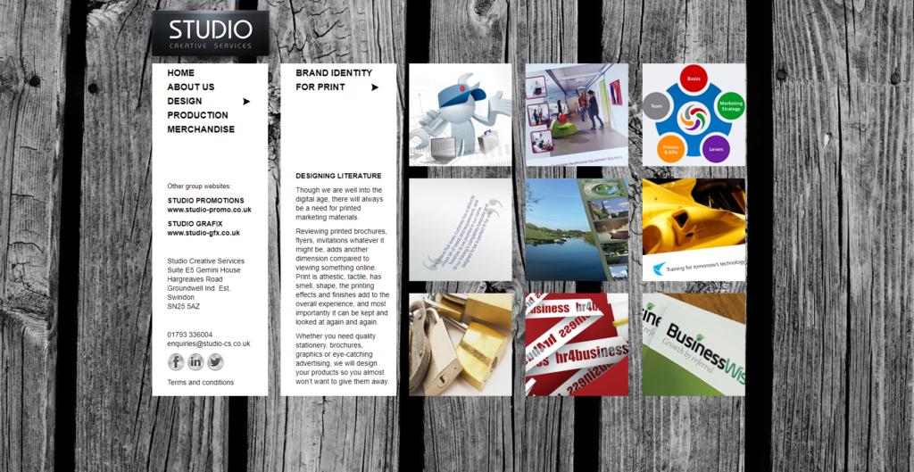 Studio Creative Services Website