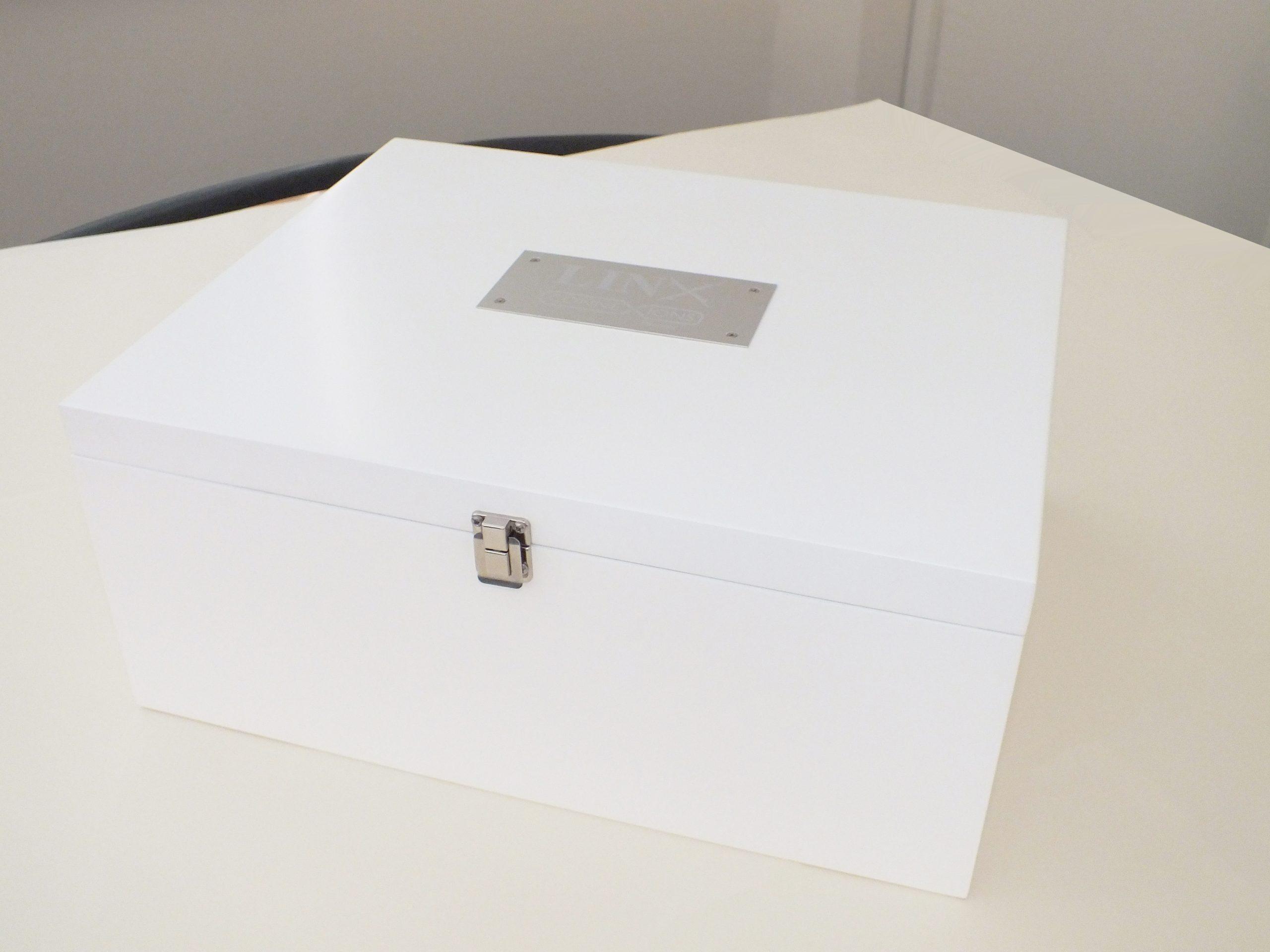 Presentation Box Laser etched plaque