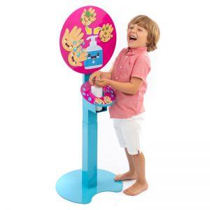 Kids multi height sanitising unit